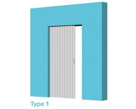 Aporta vouwdeur type 1