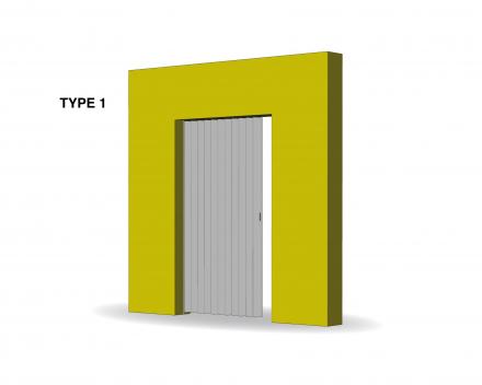 Aporta folding door type 1