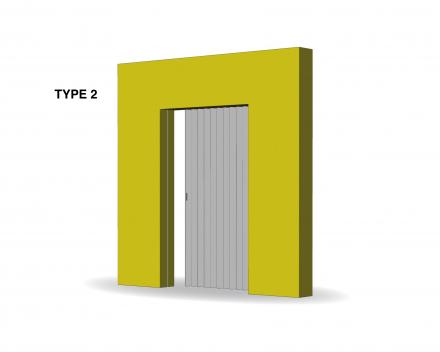 Aporta folding door type 2