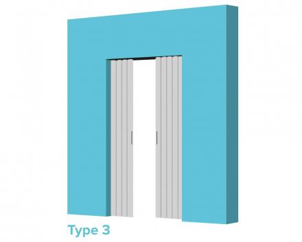 Aporta vouwdeur type 3