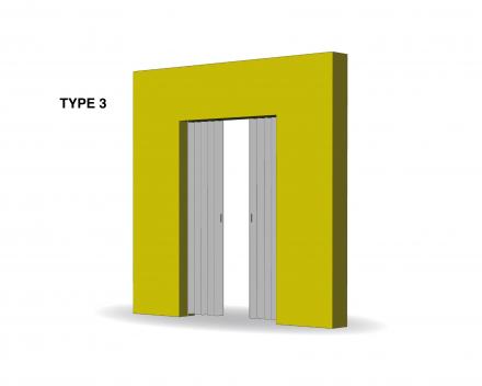 Aporta folding door type 3