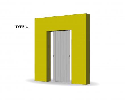 Aporta folding door type 4
