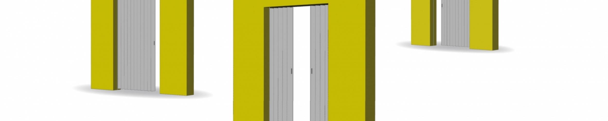 Folding door types